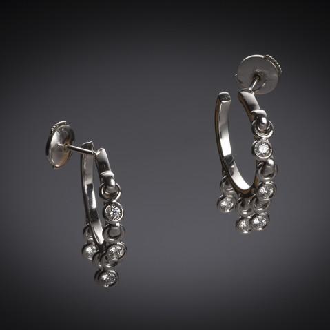 Dior diamond earrings