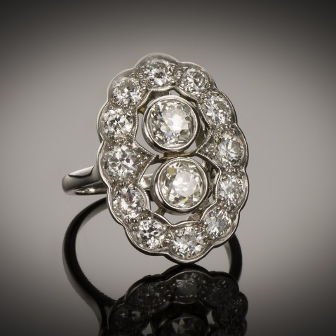 Art Deco diamond ring (2.40 carats)
