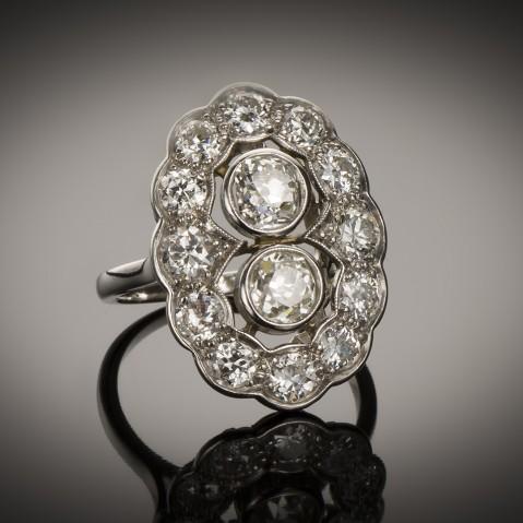Art Deco diamond ring (2.40 carats)