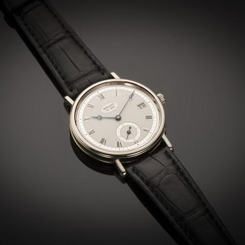 Breguet classic date white gold watch