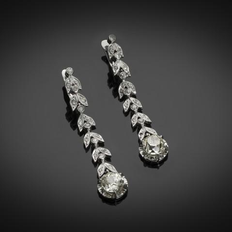 Diamond earrings (3.50 carats) circa 1935