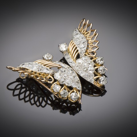 Convertible butterfly brooch circa 1940