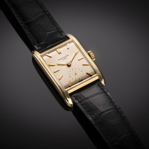 Patek Philippe watch from 1951 gold (with extract registers)