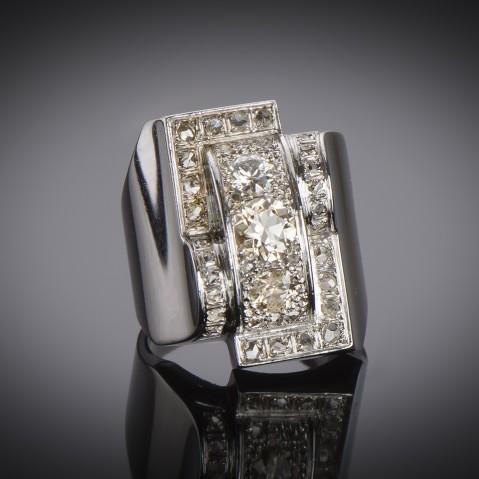 Modernist ring diamonds circa 1935