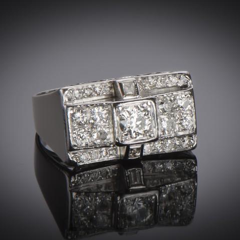 Platinum diamond ring circa 1935