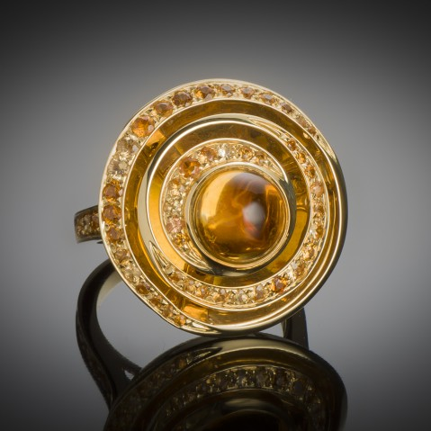 Boucheron citrines ring, Esmeralda model