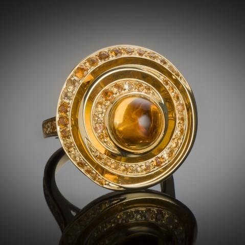 Boucheron citrines ring, Esmeralda model
