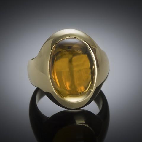 Pomellato citrine cabochon ring