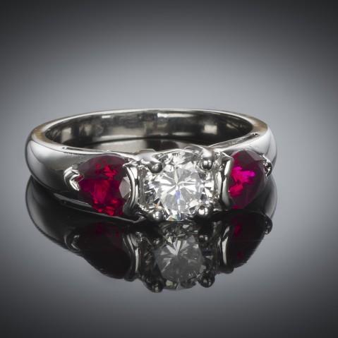 Brilliant diamond ring (GIA certificate)