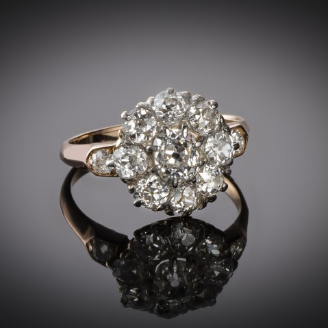 Late 19th century diamond ring (1.70 carat)