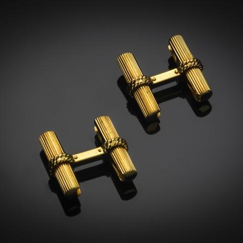 Vintage pair of gold cufflinks by Van Cleef & Arpels
