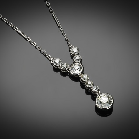 French Art Deco diamond necklace