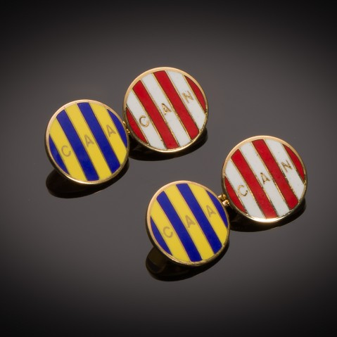 Chaumet enamelled cufflinks