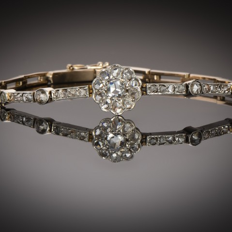 French antique diamond bracelet
