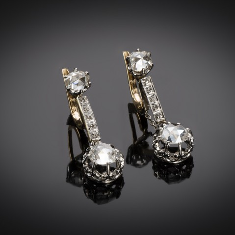 French diamond earrings circa 1900