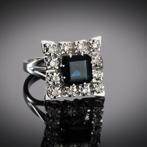 Sapphire and diamond ring circa 1950 – 1960