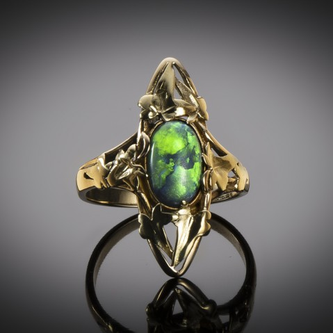 French Art nouveau opal ring