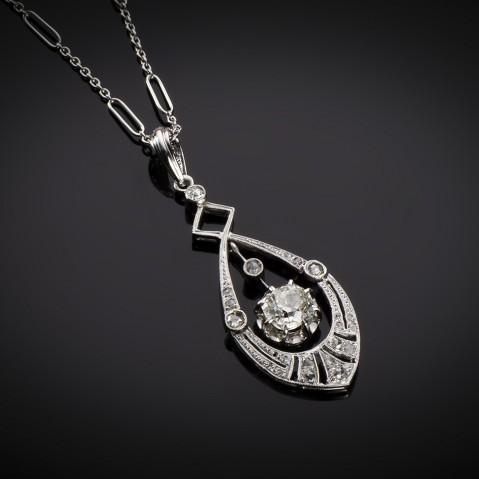 Art Deco diamond pendant
