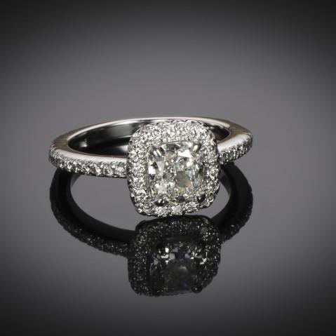 Cushion diamond ring (GIA certificate – G VS1)