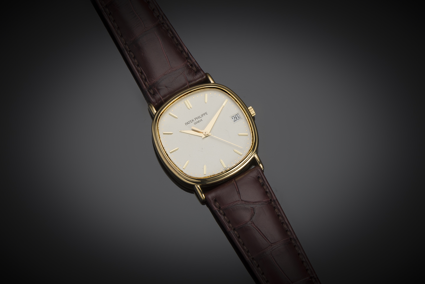 Patek Philippe automatic gold watch (with extracts from the registers)-1