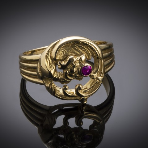 French antique chimera ring