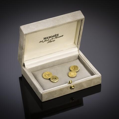 Vintage gold Hermès cufflinks