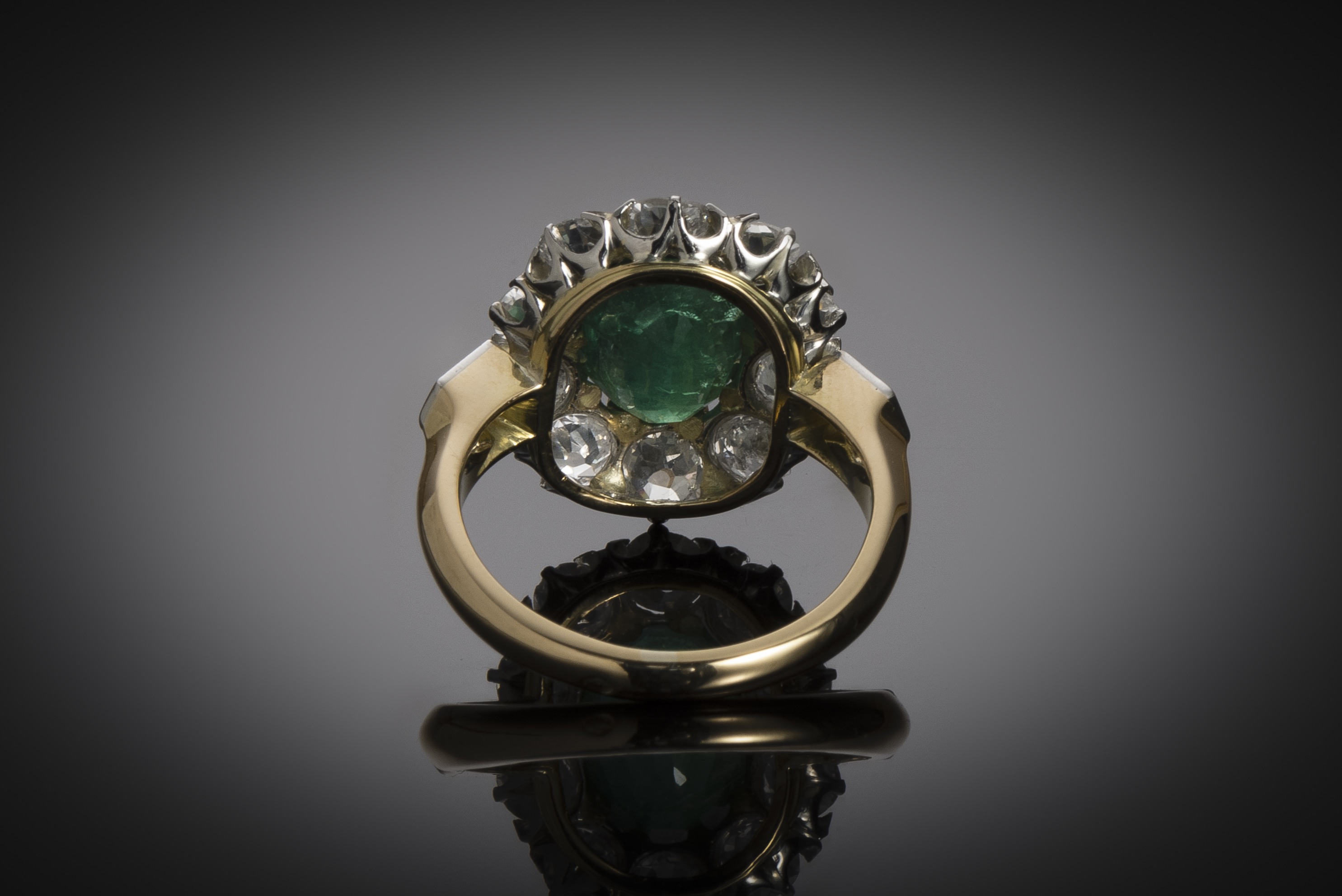 An early 20th century emerald an diamond ring-3