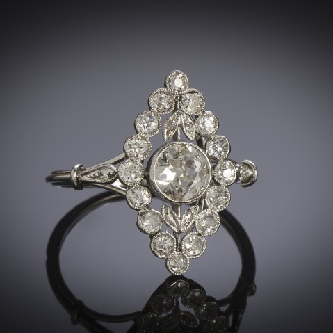 Art Deco diamond ring (1 carat)