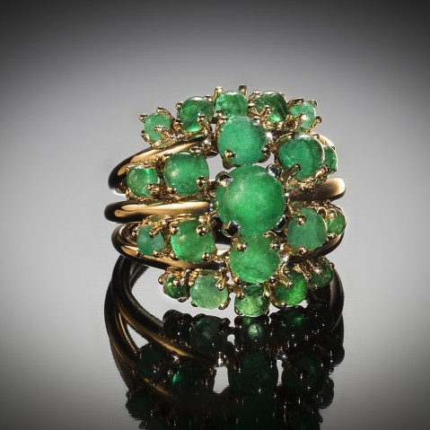 Jean Fouquet emerald ring circa 1960