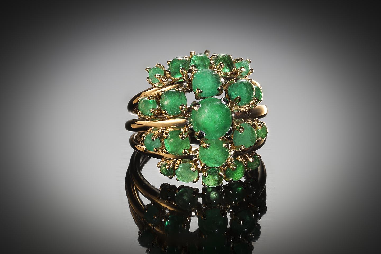 Jean Fouquet emerald ring circa 1960-1