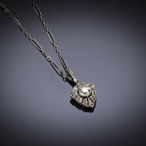 French Art Deco diamond pendant
