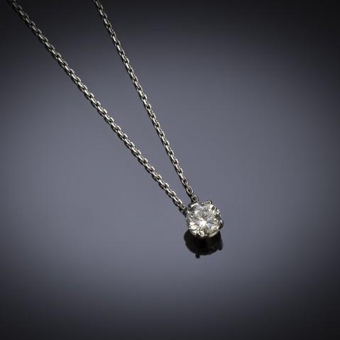Pendant diamond (0.90 carat – HRD certificate)
