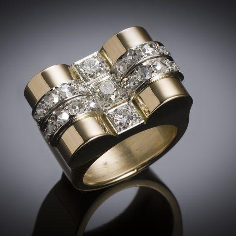 French diamond ring circa 1940