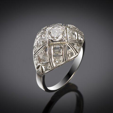 French Art Déco diamond ring