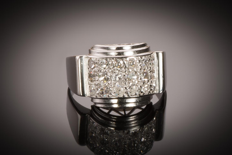 Modernist ring diamonds circa 1935-1