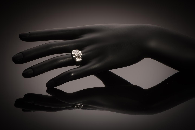 Modernist ring diamonds circa 1935-2