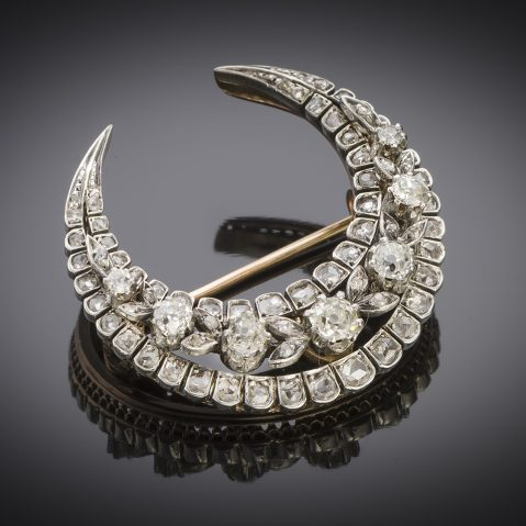 French brooch diamonds 19th century