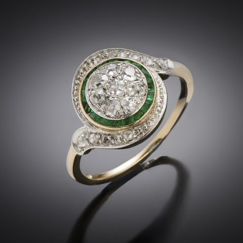 Antique French tourbillon diamond ring