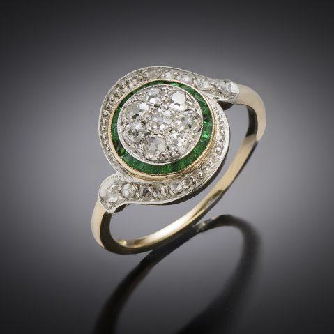 Antique French tourbillon diamond ring