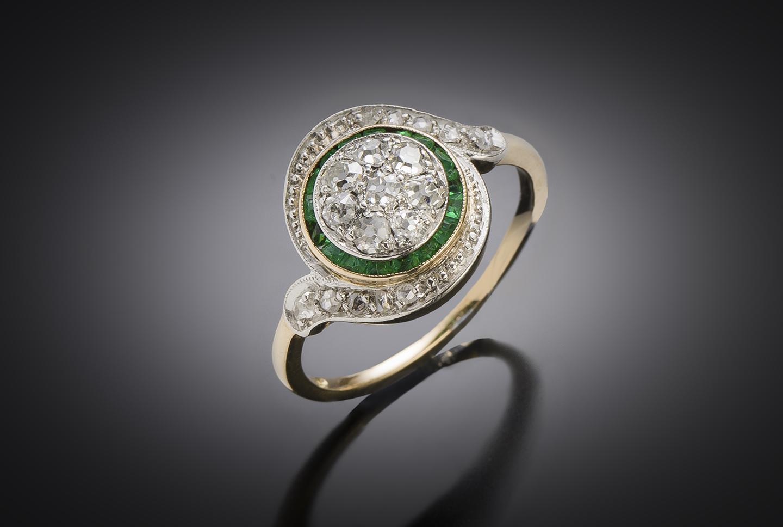Antique French tourbillon diamond ring-1