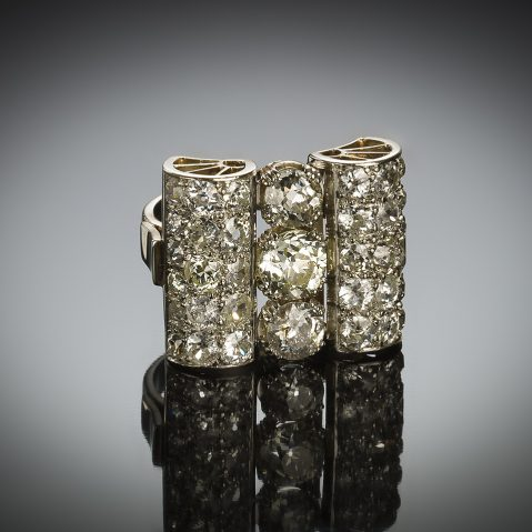 French Art Deco diamond ring (4.50 carats)