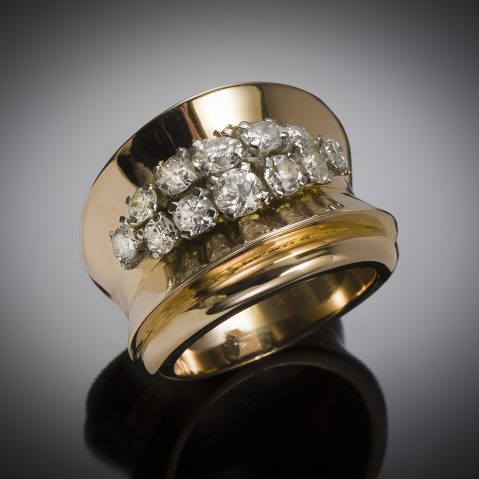 French diamond (1.10 carat) ring circa 1940 – 1950