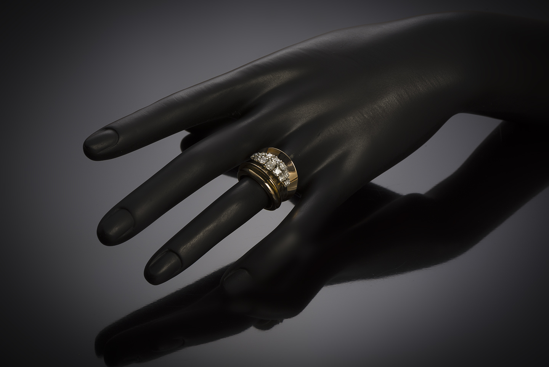 French diamond (1.10 carat) ring circa 1940 – 1950-3