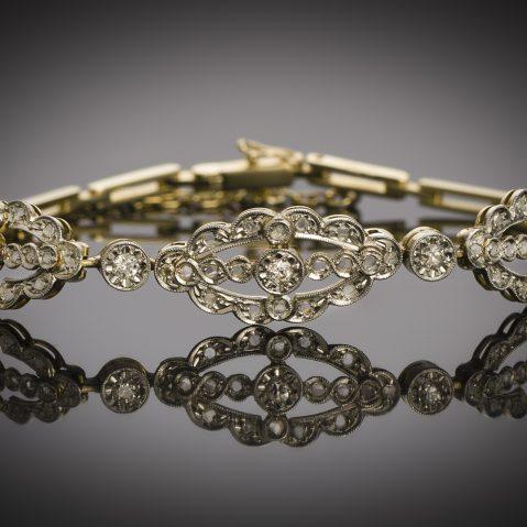 French antique diamond bracelet