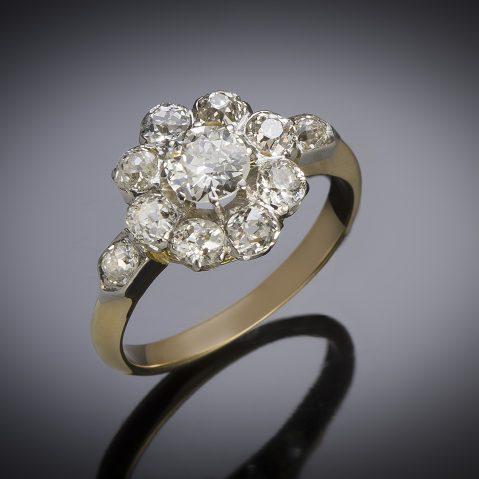 French antique diamond ring