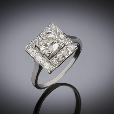 French diamond ring (1.30 carat) circa 1950