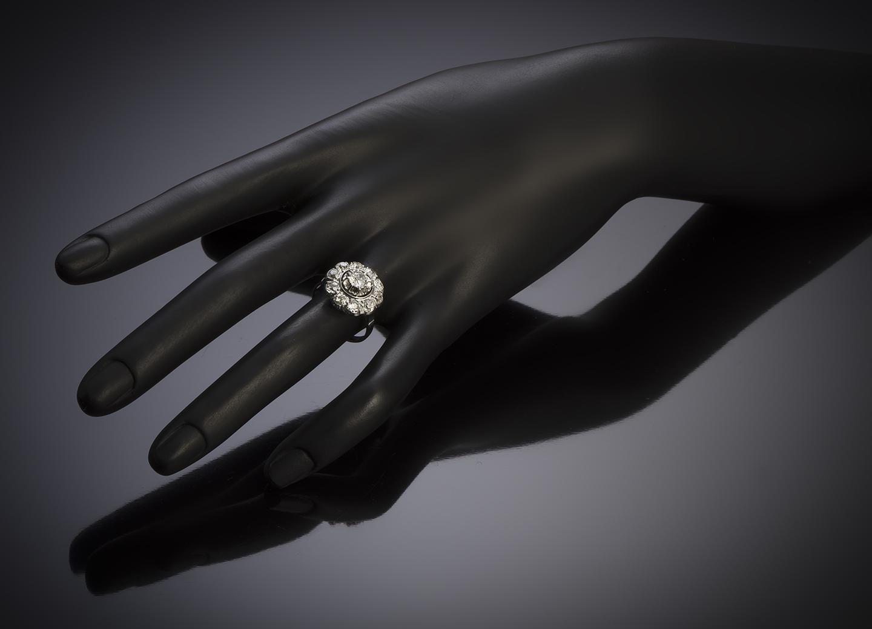 French Art Deco diamond ring-3