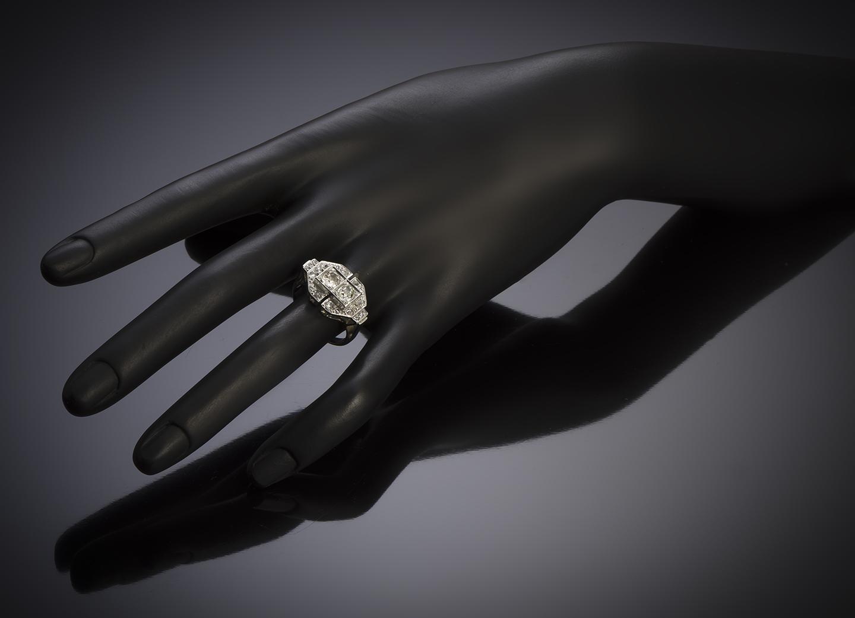 French Art Déco diamond ring-2
