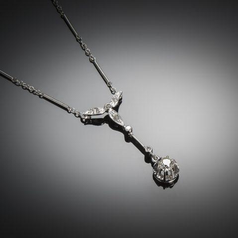 French Art deco diamond necklace