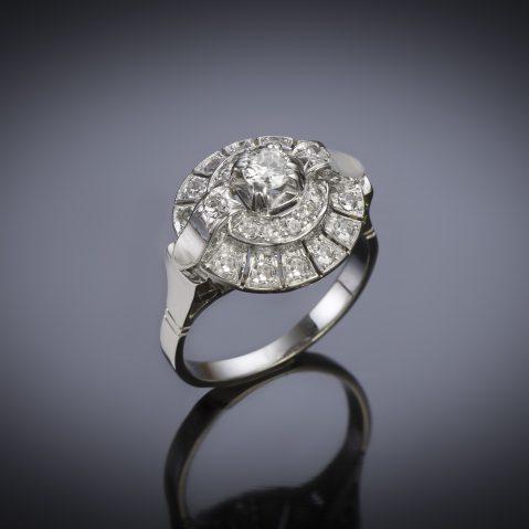French Art deco diamond ring